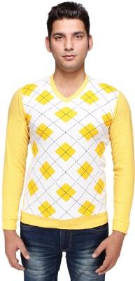 Hira Fashion Wear Checkered V-neck Wedding, Casual, Party, Formal Men's Multicolor Sweater