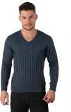 Oxemberg Striped V-neck Formal Men Blue ...