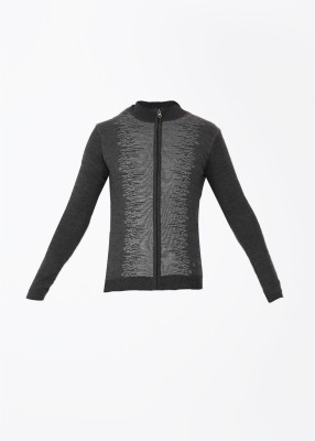 Arrow New York Self Design Casual Men's Grey Sweater