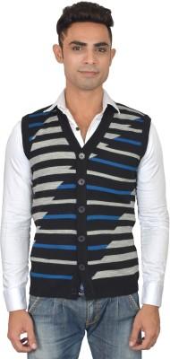 Marc Malon Argyle V-neck Casual Men's Black, Grey Sweater