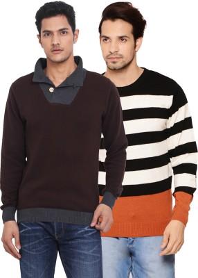 Northern Lights Solid V-neck Men's Beige, Black, Red, Brown, Grey Sweater