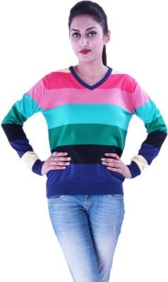 Pazaro Solid V-neck Casual Women's Multicolor Sweater