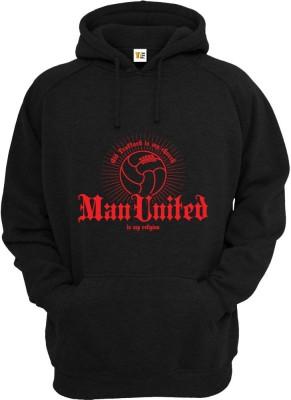 Teeforme Printed Round Neck Casual, Festive, Sports Men's Black Sweater