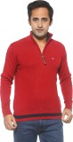 Pepe Solid Turtle Neck Casual Men Red Sw...