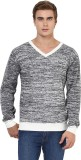 Yepme Solid V-neck Casual Men Grey Sweat...
