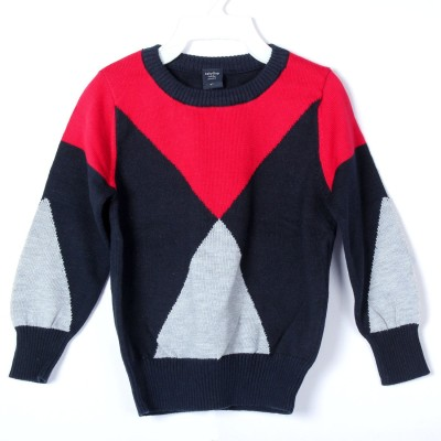 BabyBucket Printed V-neck Baby Boy's Multicolor Sweater