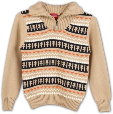 Lilliput Self Design V-neck Casual Boys Sweater