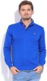 Status Quo Solid Casual Men Blue Sweater