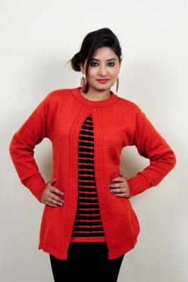 Laadli Ji Self Design Round Neck Women,s Multicolor Sweater