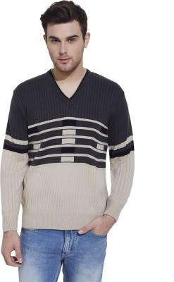 Urban Nomad By INMARK Self Design V-neck Casual Men's Black, Blue Sweater