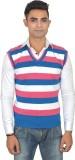 Zhomro Striped V-neck Casual Men Pink, B...