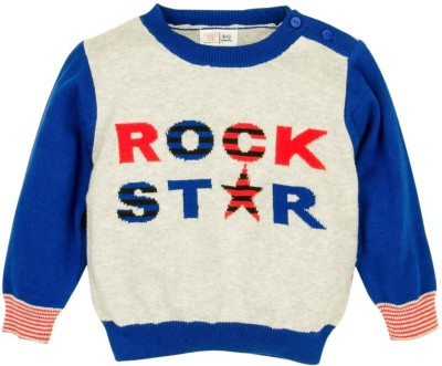 Mom & Me Solid Round Neck Casual Boy's Multicolor Sweater