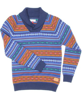U S Polo Kids Self Design Turtle Neck Casual Boys Multicolor Sweater