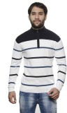 AMX Striped Turtle Neck Casual Men White...