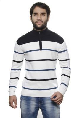 AMX Striped Turtle Neck Casual Men's White, Black, Dark Blue Sweater