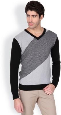 Blackberrys Solid V-neck Men's Black Sweater
