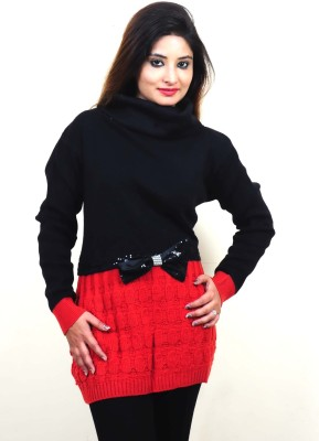 Laadli Ji Woven Round Neck Women,s Multicolor Sweater