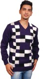Ganpati textiles Self Design V-neck Casu...