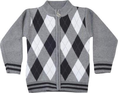 Addyvero Geometric Print Turtle Neck Casual Boy's Multicolor Sweater