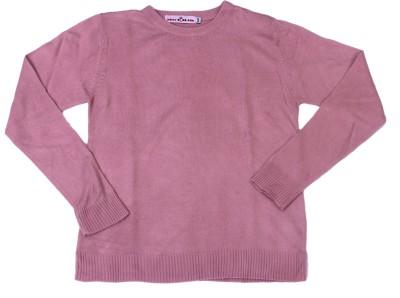 Noisyrock Solid Round Neck Women's Purple Sweater