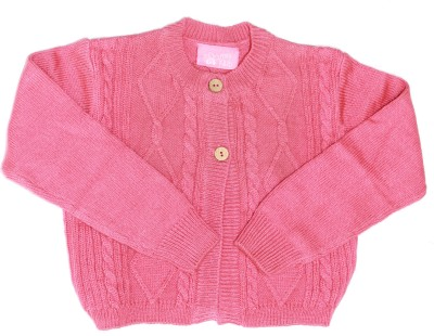Mini Klub Solid Round Neck Casual Boy's Pink Sweater