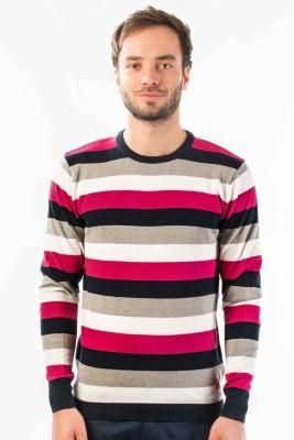 Srota Striped Round Neck Casual Men's Multicolor Sweater