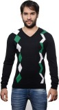 AMX Argyle V-neck Casual Men Black, Dark...