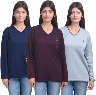 Eprilla Solid V-neck Casual, Formal Women's Multicolor Sweater