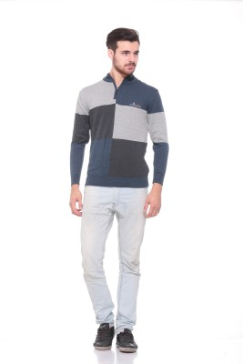 Pro Riders Striped Turtle Neck Casual Men's Blue, Grey, Black Sweater