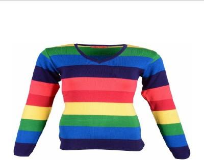 silvy Solid V-neck Women's Multicolor Sweater