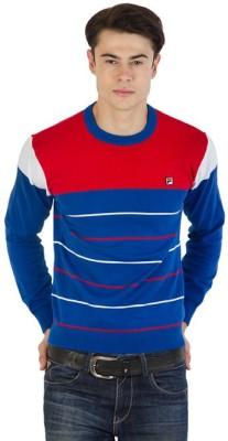 Fila Striped Round Neck Sports Men's Multicolor Sweater