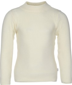 AJ Dezines Solid Round Neck Casual Boys White Sweater