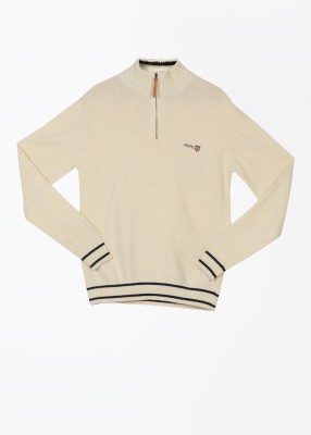 Pepe Jeans Solid Casual Men,s White Sweater