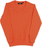 Gini & Jony Solid V-neck Casual Boys Orange sweater best price on Flipkart @ Rs. 2399
