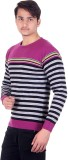 Numalo Striped Round Neck Casual Men Mul...