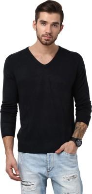 Yepme Solid V-neck Casual Men,s Black Sweater