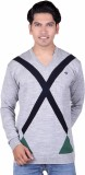 Fabtree Striped, Solid V-neck Casual Men...
