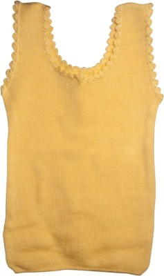 Mee Mee Solid Round Neck Casual Girl's Reversible Yellow Sweater