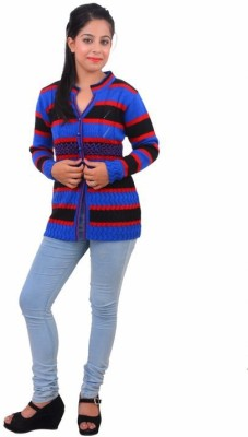 Popkins Striped V-neck Formal, Casual Women's Multicolor Sweater