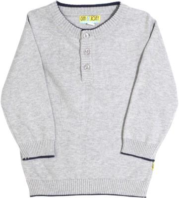 Gini & Jony Solid Casual Baby Boys Grey sweater
