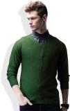 WROGN Solid V-neck Casual Men Green Swea...