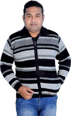 Krazzy Collection Striped V-neck Casual Men's Multicolor Sweater