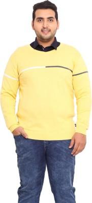 John Pride Solid V-neck Men's Yellow Sweater