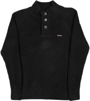 Gini & Jony Striped Casual Boys Black sweater