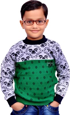 AD & AV Printed Round Neck Casual Boys Multicolor Sweater