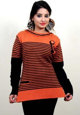 Laadli Ji Striped Round Neck Women,s Multicolor Sweater