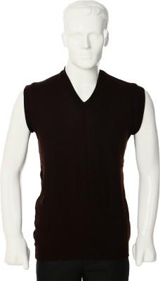 Leedo Solid V-neck Casual Men's Reversible Brown, Beige Sweater