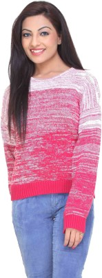 CLUB YORK Solid Round Neck Casual Women's Pink Sweater