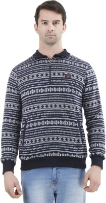 D-GREEN Full Sleeve Self Design Men's Sweatshirt