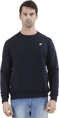 D-GREEN Full Sleeve Solid Men's Sweatshirt